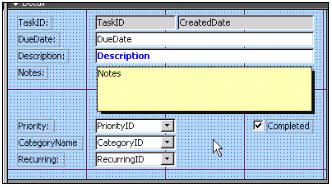 Microsoft Access 206: Task Management, OnCurrent Event
