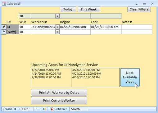 microsoft access work order template koni polycode co