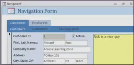 Microsoft Access 2010 Beginner Level 7 Tutorial Navigation Forms ...