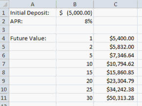 How to calculate future value in excel 2010 future value for Future value excel template