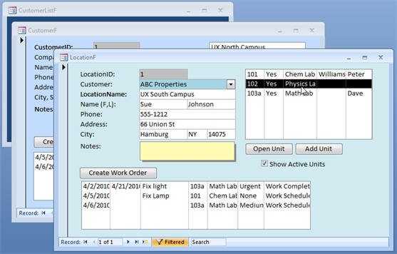 order form access  microsoft access work order template - Wpart.co