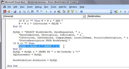 Microsoft Access Work Order Seminar Tutorial